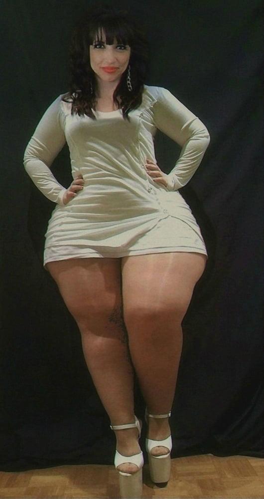 Mature BBW alongside mini skirts..