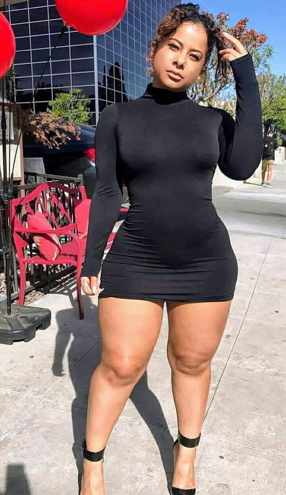 Black girls with glum thick legs..