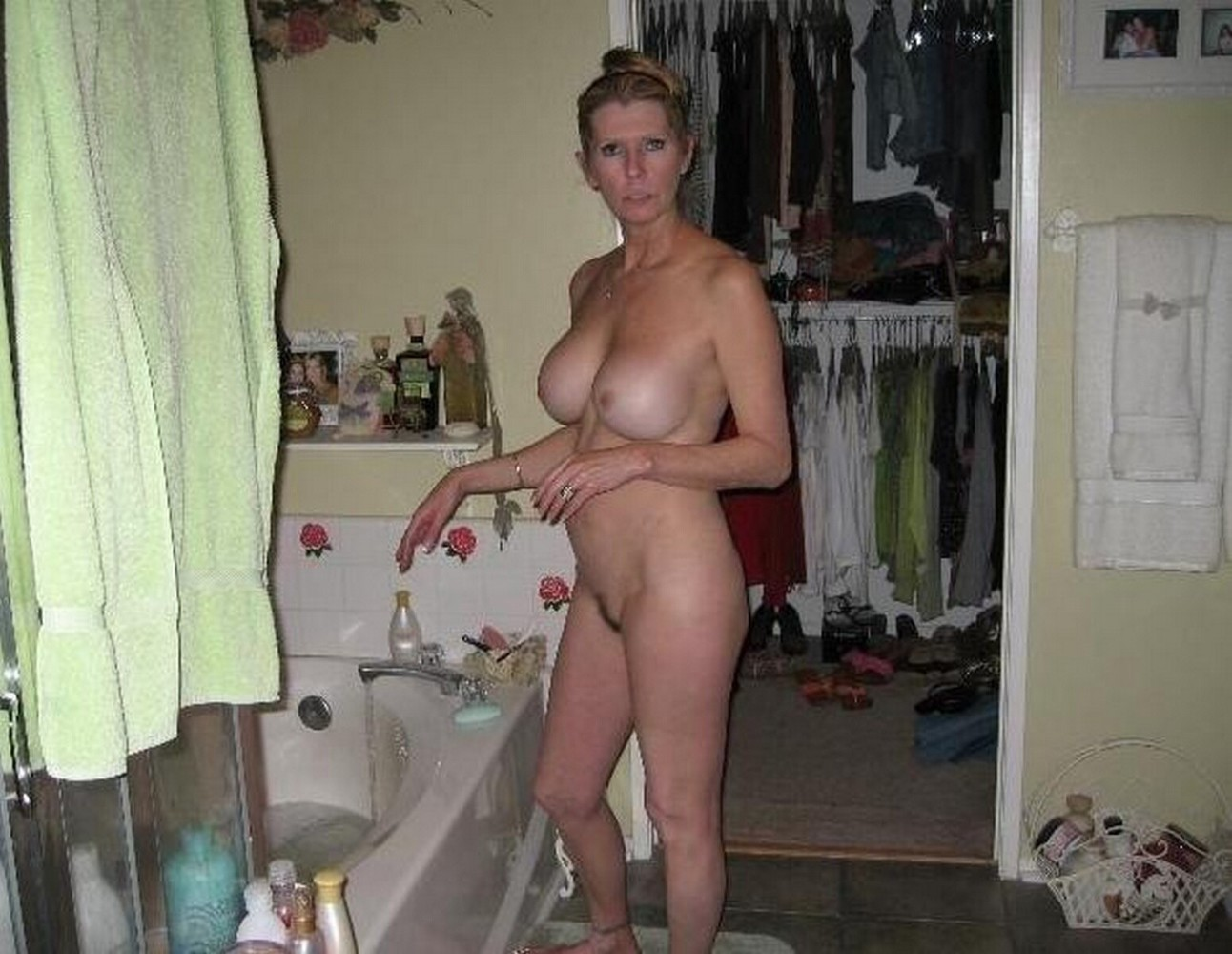 Naked girl embarrassed nude female