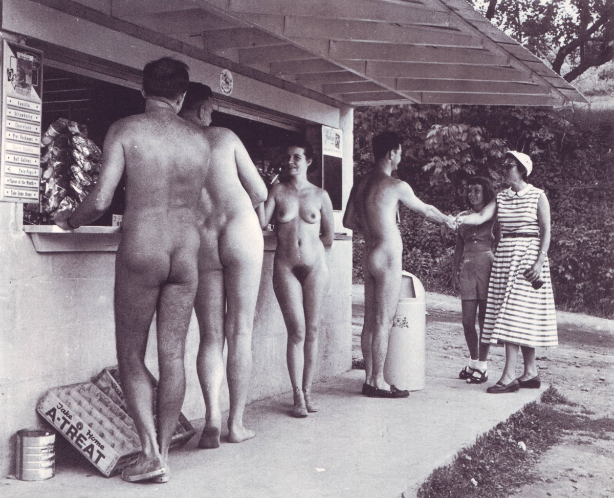 open house at the nudist camp..