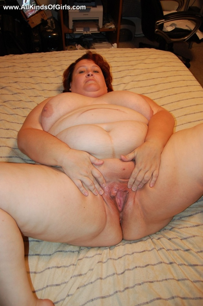 Mature fat old woman spreading..