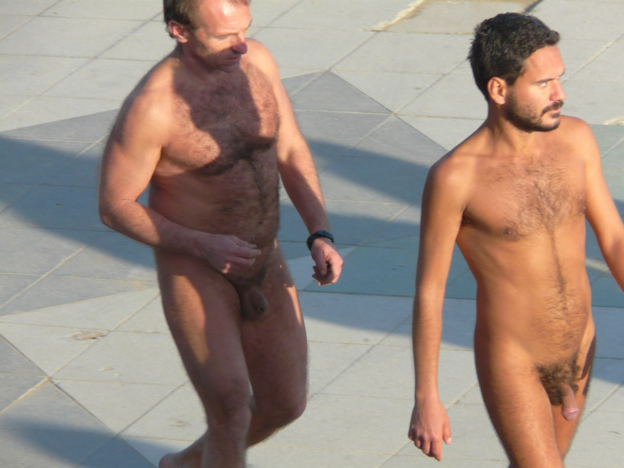 Father and son nude..