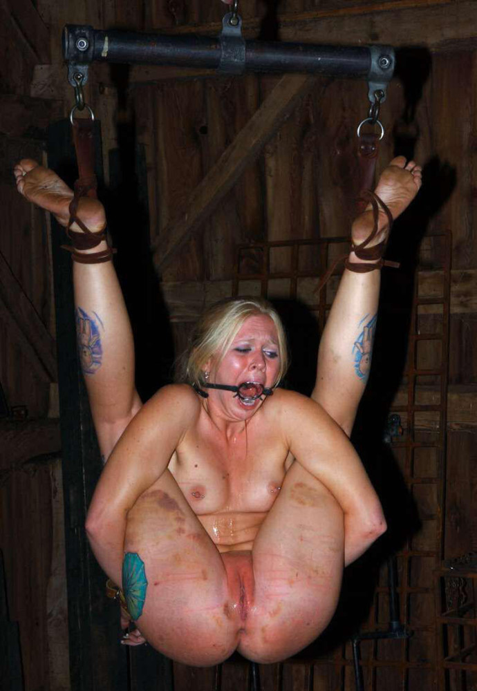 Outdoor bdsm torments and humiliation of chained slave olivia rose free pics