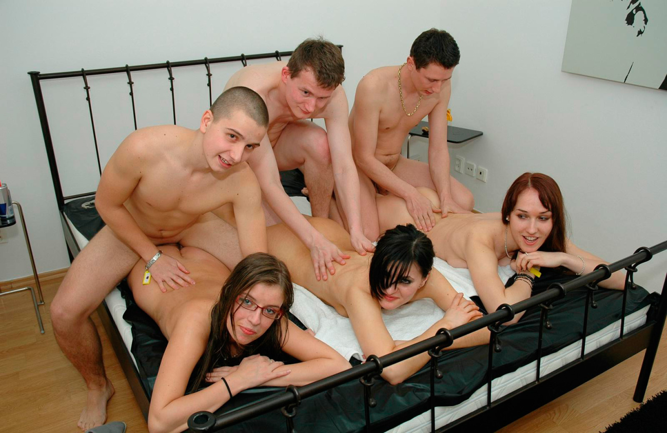 Guys Line Up To Fuck Tied Up Pussy