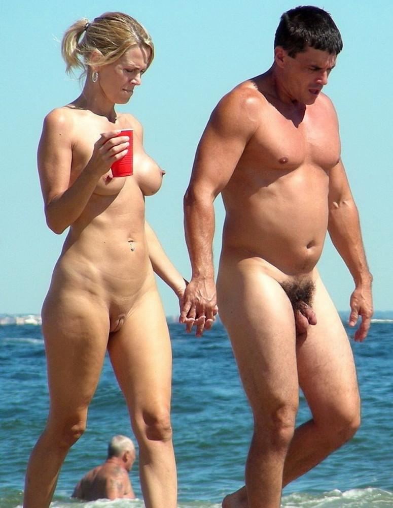 Nude Couple On Beach