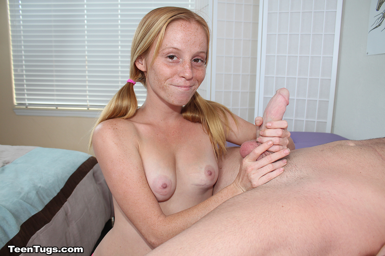 Her Small Hands In His Big Cock