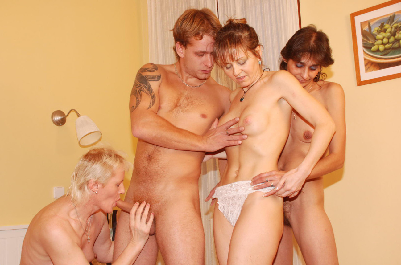 Two Couples Foursome Teen