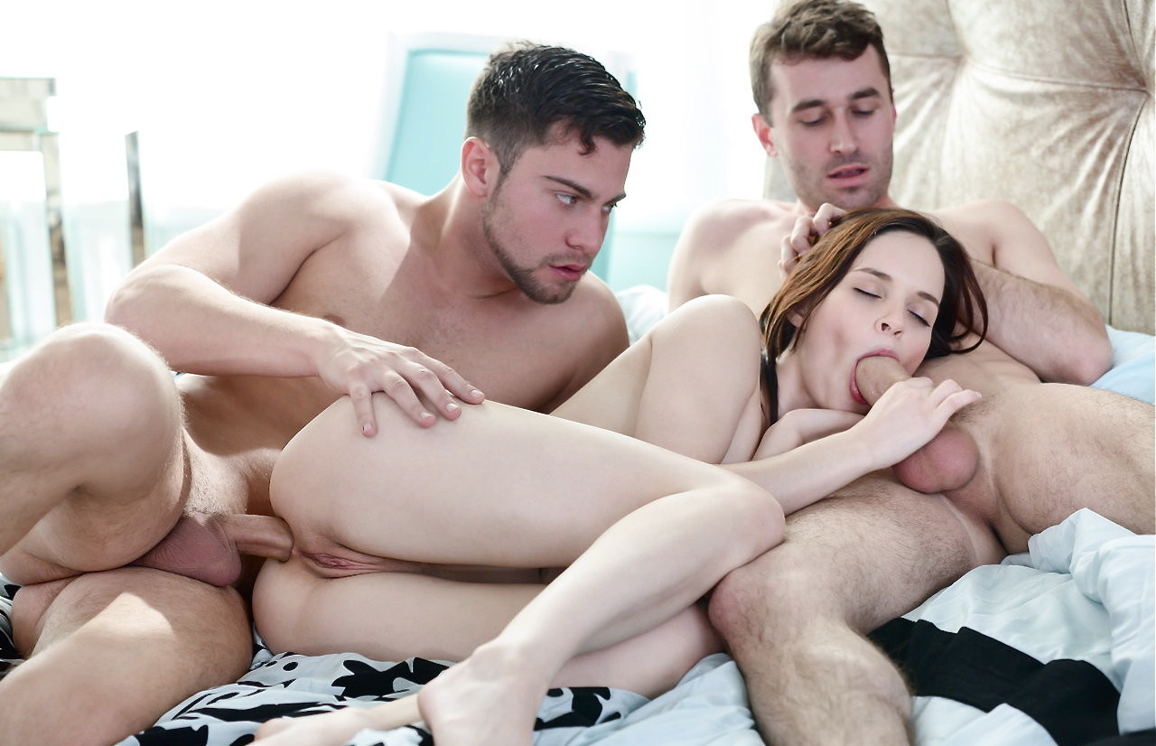 Really Hot Teen Threesome With Two Guys And One Girl